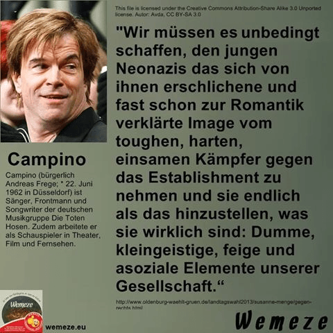 Mein Facebook-Kommentar zur Aussage von Andreas Frege (Campino)